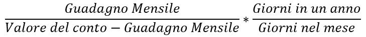 Calcolo interesse annuo