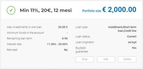 Riepilogo Autoinvest Viainvest