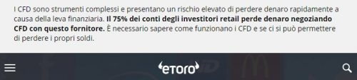 Disclaimer eToro
